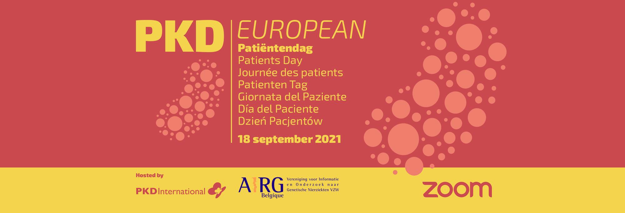 PKD Europese Patiëntendag – 18 september 2021